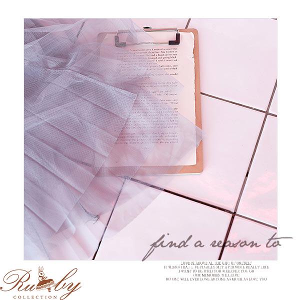 長裙 百摺及膝三層紗裙-Ruby s露比午茶