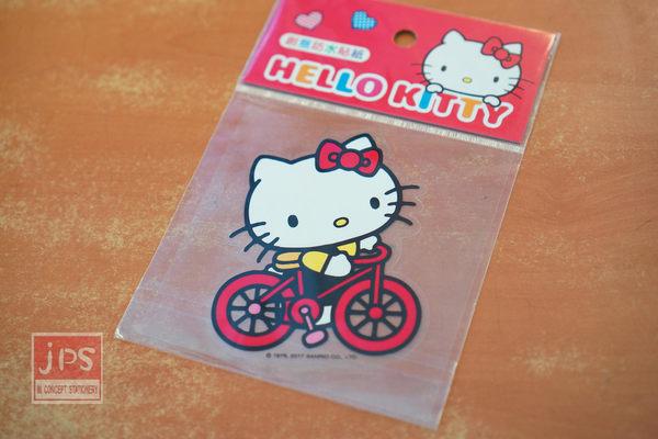 Hello Kitty 創意防水貼紙 腳踏車紅