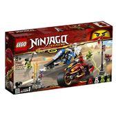 樂高LEGO NINJAGO 旋風忍者 赤地的刀鋒轉輪車和冰忍的雪地摩托車 70667 TOYeGO 玩具e哥