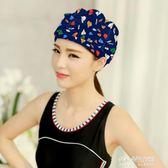 游泳帽女士加大長發護耳舒適時尚新款 溫泉 帽 游泳裝備  朵拉朵衣櫥