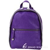 Stella McCartney Falabella 鍊帶滾邊後背包(紫色) 1530383-04