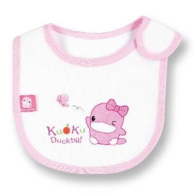 【奇買親子購物網】酷咕鴨KU.KU. 毛巾布透氣小圍兜(藍色/粉色)