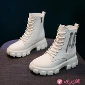 馬丁靴 馬丁女鞋2021年新款秋冬季棉鞋百搭顯腳小保暖加絨英倫風瘦瘦短靴 小天使