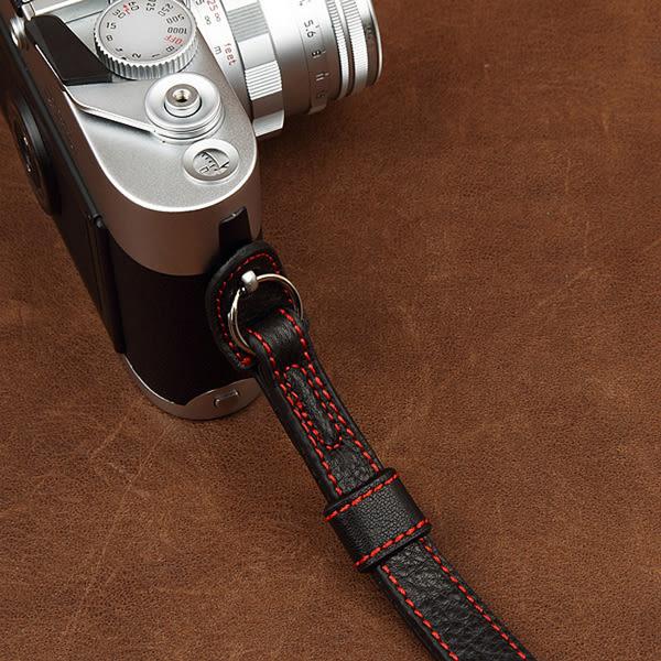 【數配樂】cam-in 真皮皮革 相機手腕帶 2022 黑色 GF7 RX100 A5100 G7X LX100 X70 XA2 X100