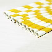 紙吸管24入-日光黃