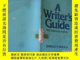 二手書博民逛書店A罕見Writer s Guide.Y2209