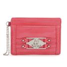 Crystal Ball鉚釘鑽飾亮面證件卡夾證件夾(亮桃紅色)163001-1