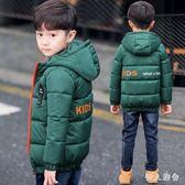 中大尺碼男童短款棉衣新款兒童中大童羽絨棉服輕薄外套加厚zzy8285『伊人雅舍』