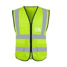 反光背心 反光背心馬甲外套施工熒光環衛工人美團交通安全網布衣服騎行背帶 宜品