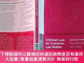 二手書博民逛書店【外文原版】criminal罕見law for common law states 2nd edition (國家