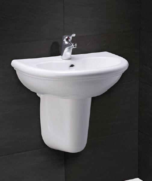 《修易生活館》 凱撒衛浴 CAESAR 面盆系列 面盆 L2230 S 半瓷腳 P2441 龍頭 B400 C