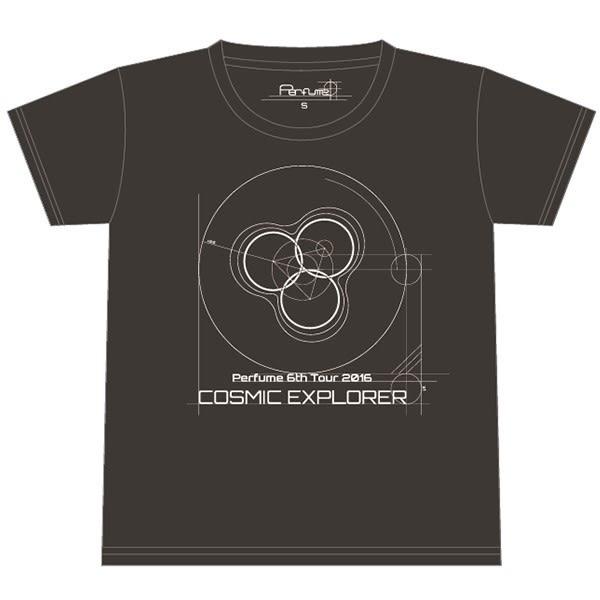 Perfume 6th Tour 2016「COSMIC EXPLORER」- Logo T恤<地球灰>