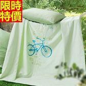 涼被-超值極簡主義腳踏車純棉夏被7色68o31[時尚巴黎]