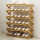 [拉拉百貨]70cm六層-楠竹摺疊置物架 免安裝 收納架 開放式收納架 鞋架 花架 層架