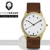 Hypergrand新加坡設計前衛時尚品牌01基本款系列腕錶-棕皮革CW01GWBRW公司貨