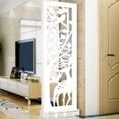 屏風隔斷簡約現代雙面鏤空雕花儲物玄關櫃行動小戶型客廳門廳臥室 現貨快出
