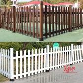 花園圍欄 戶外防腐木柵欄圍欄籬笆花園庭院裝飾院子圍牆室外欄桿柵欄門T 3色