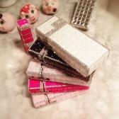 Pr 煙盒 創意禮品水鉆鑲鉆細長自動彈煙盒