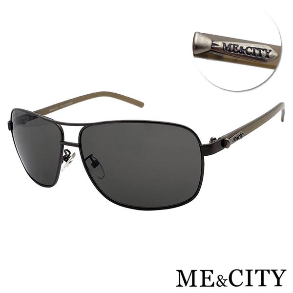ME&CITY 時尚飛行官金屬方框太陽眼鏡 抗UV400(ME110011 C680)