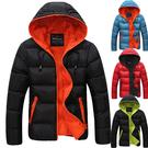 經典潮流雙色造型加厚保暖連帽外套...