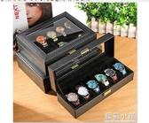 皮質手錶收納盒地攤展示箱擺攤帶鎖歐式手錶禮品包裝盒腕錶整理盒 藍嵐