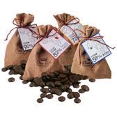 【Diva Life】鈕扣巧克力麻布袋 雙包裝(比利時純巧克力)