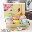 ▶日式創意碗筷套裝陶瓷碗家用碗米飯碗碟套...