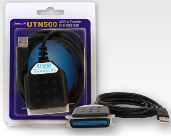 【中將3C】Uptech 登昌恆 UTN500 USB to Parallel印表機轉接線   .UTN-500