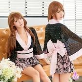 角色扮演 粉黑撞色日式和服角色扮演服三件組  SEXYBABY 性感寶貝貨號:NA18030018