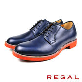 【REGAL】個性俐落德比鞋 深海藍(51MR-NA)
