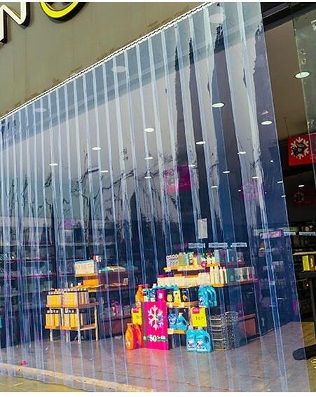 PVC塑料透明空調軟門簾