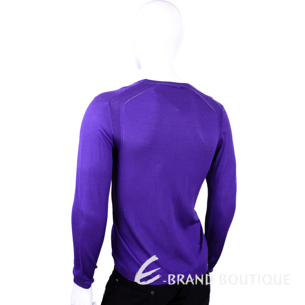 VERSACE 紫色金屬牌飾長袖上衣 1520398-04