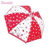 日本限定 HELLO KITTY  生活計畫版 滿版點點 直立傘 / 雨傘