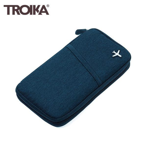 又敗家@德國TROIKA防感應護照包TRV20/DB防盜卡夾防感應錢包防盜刷包防RFID-NFC側錄多功能護照包