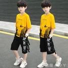 兒童裝男童夏裝套裝2021新款夏季帥氣中大童男孩短袖兩件套洋氣潮 蘿莉新品