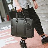 男士大容量新款 男生公文包文件手提包商務青年包 男款韓版新款出差手提包皮質單肩包 公文包