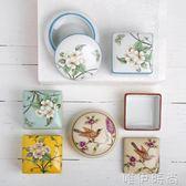 收納盒 首飾盒歐式復古首飾盒陶瓷手繪花鳥中式家居創意裝飾品收納盒梳妝台擺件    唯伊時尚
