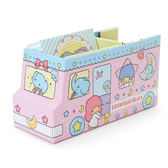 Sanrio 雙星仙子紙膠帶&便條紙組附桌上型巴士造型收納盒★funbox★_401846N