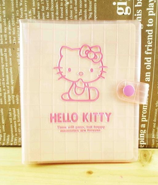 【震撼精品百貨】Hello Kitty 凱蒂貓~六孔夾-粉側坐