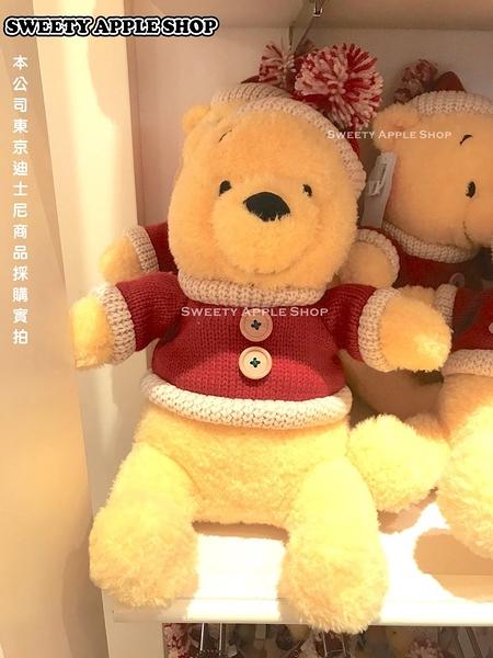 (現貨&樂園實拍圖)   東京迪士尼限定 小熊維尼  聖誕限定 玩偶娃娃 37cm