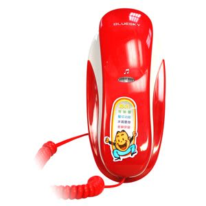 ^聖家^旺德有線掛壁桌上電話機~紅 WD-303【全館刷卡分期+免運費】
