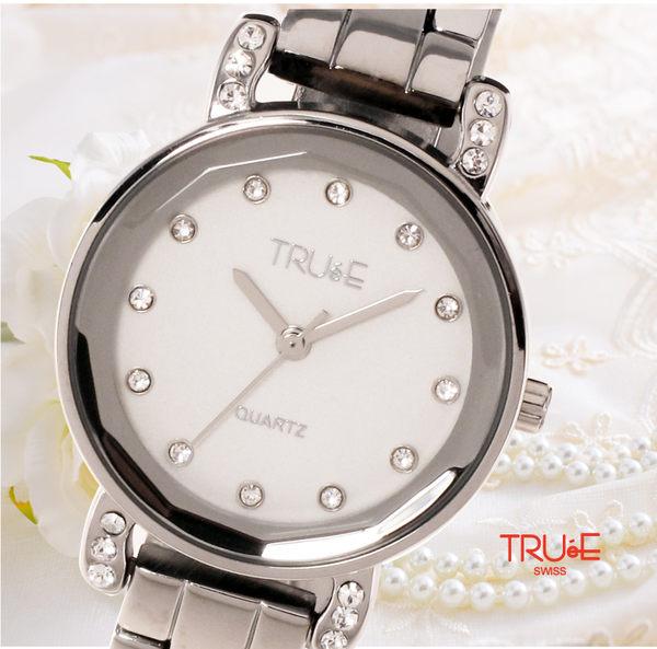 瑞士 TRUE 瑞時寶嘉  TC150178 威尼斯水波紋晶鑽腕錶 /30mm