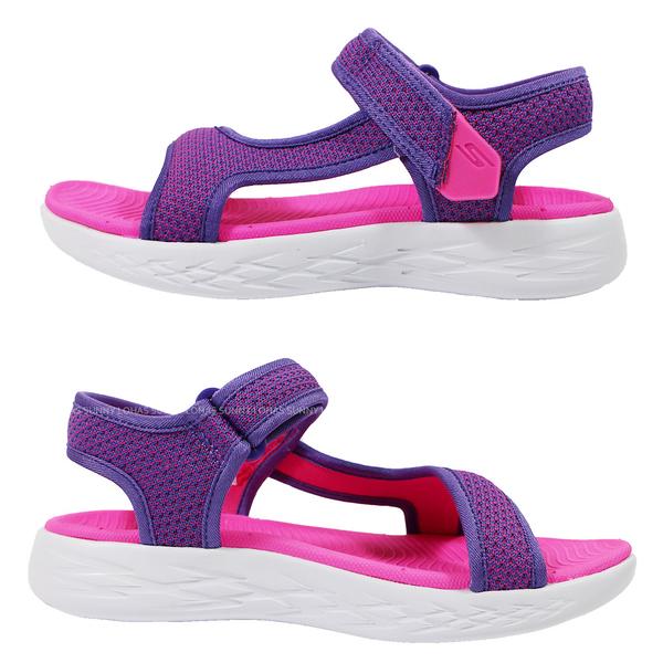 (B4) SKECHERS 女童鞋 涼拖鞋 ON THE GO 600 運動涼鞋 86982LPRPK粉紫 [陽光樂活]