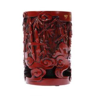 節節高 筆筒 炭雕擺件 時尚創意 生日禮物 裝飾品家居 工藝禮品
