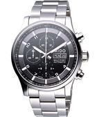 MIDO 美度 Multifort Chrono Valioux 計時機械手錶-黑/銀 M0056141105701