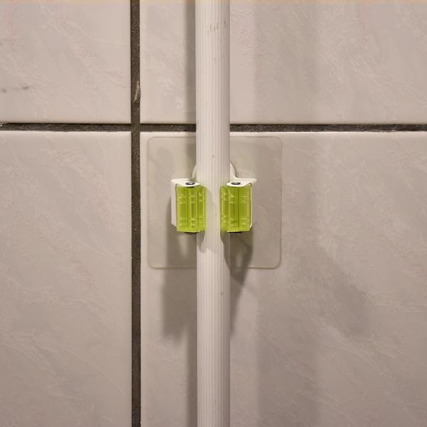 萬用工具固定架 粗桿 可重複貼 無痕掛勾 台灣製造 貼恆玖 掃把拖把馬桶刷夾