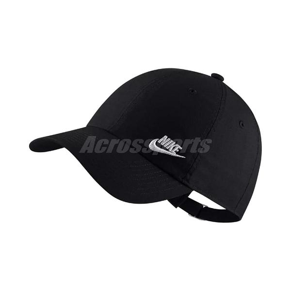 Nike 帽子 Sportswear Heritage 86 Futura Adjustable Hat 黑 白 老帽 男女款 電繡Logo 【ACS】 AO8662-010