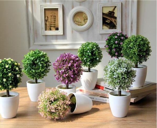 【TT】家居飾品 模擬花 模擬草 客廳 擺設花 假花 裝飾花 餐桌 塑膠花盆栽