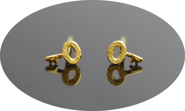 gold 黃金 耳環 金飾 保證卡 重量0.20錢 [ ge 046 ]