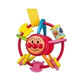 〔小禮堂〕麵包超人 圓形塑膠手感玩具《橘綠.大臉》兒童玩具 4971404-31579